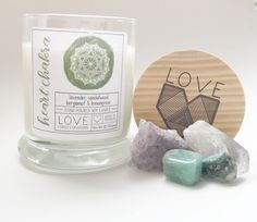 Heart Chakra Candle-Meditation Candle-Healing Candle-Open Your Heart Chakra-Yoga Candle- Gift