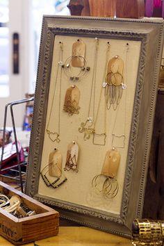 Super cute jewelry display at #ShopAdorn  https://www.chloeandisabel.com/boutique/meganmarkle