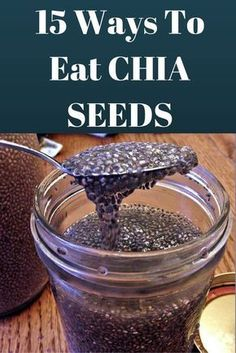 15 Best Ways to Eat Chia Seeds, With Vegan and Gluten-Free Recipes Love chia seeds but don't quite know what to do with them? We've listed 15 ways you can start eating chia today! Gluten-Free and Vegan Recipes included!Love chia seeds but don't quite know Whole Food Recipes, Vegan Recipes, Free Recipes, Recipes With Chia Seeds, Keto Chia Seed Recipes, Chi Seed Recipes, Chia Seed Snacks, Organic Recipes, Family Recipes