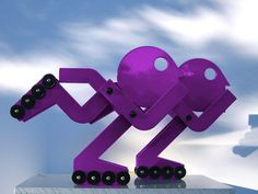 We love these mod roller-bladers custom created by Jorge Blanco for Renown Children's Hospital in Renown purple. If you'd like more information, contact Stremmel Gallery www.stremmelgallery.com.