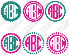 circle Circle monogram font, Circle monogram font free