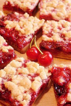 Cherry Pie Crumble Bars @Stacy Stone Stone Stone Stone | Wicked Good Kitchen