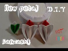 """Новый лепесток канзаши """"Бутончик""""/New petals kanzashi/D.I.Y - YouTube"""