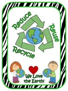 Earth Day: Recycling Center Labels Black and White Polka Dots Earth Day Activities, Sorting Activities, Fun Activities For Kids, Recycling Facts, Recycling Center, Save Earth Posters, Save Earth Drawing, Center Labels, Save Our Earth
