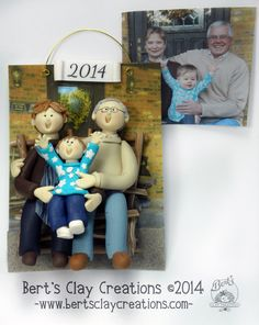 Custom Grandchildren Ornament Deposit - Create an ornament Grandparents will love. by BertsClayCreations on Etsy