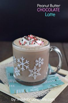 Peanut Butter Chocolate Latte - using a peanut butter chocolate spread and frothed milk makes this homemade latte amazing