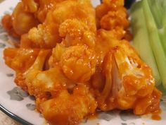 """Vegetarian and Cooking!: Buffalo """"Wing"""" Style Cauliflower"""