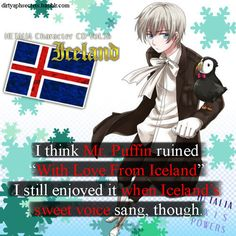 """I think Mr. Puffin ruined """"With Love from Iceland"""". I still enjoyed it when Iceland's sweet voice sang though."""
