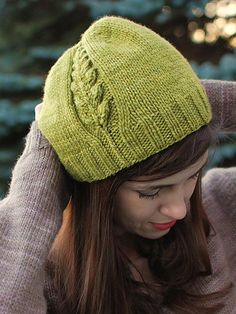 Accessory Knitting Downloads - Perennial Hat Knit Pattern