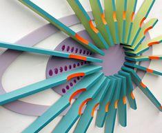Holz-Wandkunst 'Aurora' Holz-Skulptur Wand Kunst