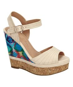 Love this Nude Betty Wedge Sandal on #zulily! #zulilyfinds