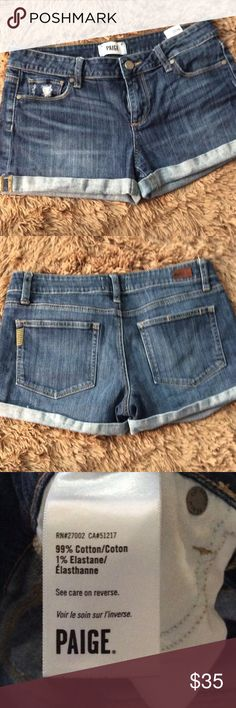 """Paige Jeans. $25 bundle price. Rolled Cuff. Shade Wj422. 8"""" rise 2.5 inseam. Paige Jeans Shorts Jean Shorts"""