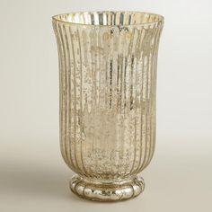 Silver Ribbed Mercury Glass Candleholders   World Market