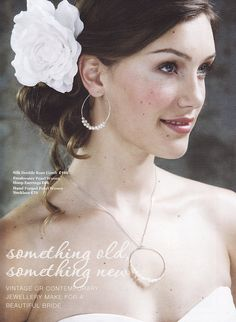 Pearl Circles Wedding Necklace and Earrings by sarahhickeybride, $230.00