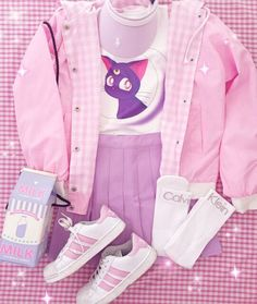 33 Cute Kawaii Clothes Suitable for Use in This Month - Fashion 90s, Pastel Fashion, Harajuku Fashion, Lolita Fashion, Cute Fashion, Asian Fashion, Fashion Outfits, Fashion Styles, Fashion Women