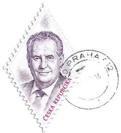 Stamp of President Zeman