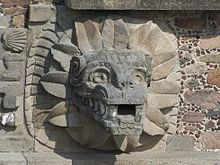 Teotihuacan Feathered Serpent (Jami Dwyer) - Feathered Serpent - Wikipedia, the free encyclopedia Fire Serpent, Winged Serpent, Aztec Religion, Cosmos Tattoo, Feathered Serpent, Aztec Ruins, Aztec Culture, Sculptures, Lion Sculpture
