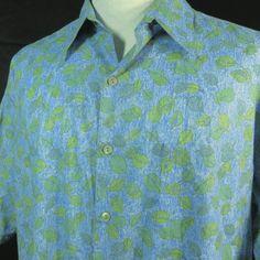 Tori Richard Hawaiian Shirt Mens L Light Blue Green Cotton Lawn NEW Aloha Cruise #ToriRichard #Hawaiian