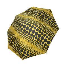 New! Yayoi Kusama Three-fold Umbrella Yellow Pumpkin 3 Artist Japan F/S #Asian