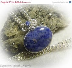 ON SALE Royal Blue Swirlstone Silver Wire by superioragates, $21.50