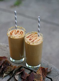 Fall is the best!  I love desserts and I crave these pumpkin milkshakes.