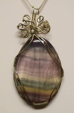 Apalachee Mineral s - Wire-Wrapped Fluorite from Mexico
