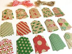 30 Old Fashioned Christmas Gift Tags With Ties Included. Cyber
