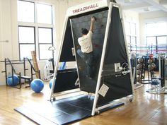 Rock or wall climbing is a lot of fun and has not shortage of enthusiasts, but like many forms of exotic exercise, you have to go to a special facility or location to engage it.  The Treadmill wall, while not small or cheap, at least removes that obstacle.