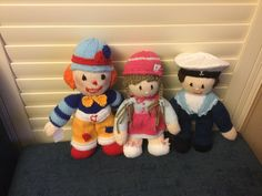 Hand knitted dolls made by me