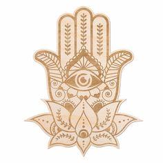 New Hamsa Hand Engraved Wood Wall Decor by Bungalow Rose. Home Decor Furniture from top store Hamsa Hand Tattoo, Hand Tattoos, Dotwork Tattoo Mandala, Hamsa Art, Neue Tattoos, Script Tattoos, Sanskrit Tattoo, Arabic Tattoos, Flower Tattoos