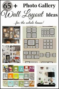 65 plus photo gallery wall layout ideas - get lots of great ideas to combine sizes and layouts of pictures!