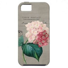 Vintage Pink Hydrangea iPhone 5 Case~You know, just in case I get an iPhone...