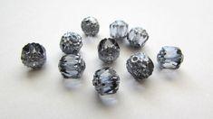 20x Czech Preciosa 8mm Firepolish Cathedral Bead - Montana Crystal Beads, Glass Beads, Bugle Beads, Round Beads, Montana, Barrel, Cathedral, My Etsy Shop, Stud Earrings