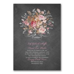 40% OFF Wedding Invitations & Save The Dates!  Wooden Roses - Invitation