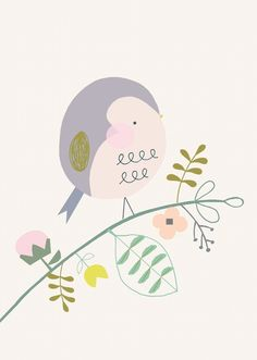 Vicky Riley 'Ansichtkaart Vogel'