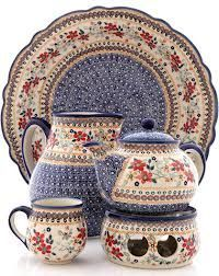 Polish pottery!! So pretty I just can't stand it. So many patterns I don't know which one I like best.