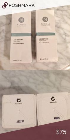 FREE SHIP! Set of Nerium AD Day & Night Sealed NWT Nerium AD is an amazing easy breezy facial treatment with real results. One day & one night application & you are done! Makes travel much easier. Both products are sealed and have never been opened. I ship every day so you can begin your new regime right away. 🎀 Offer $6 less than listing price for FREE SHIP! Nerium  Makeup