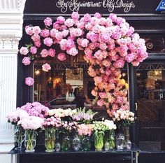 Find images and videos about flowers and flores amores on We Heart It - the app to get lost in what you love. Fresh Flowers, Beautiful Flowers, Vitrine Design, Flower Cafe, Shop Facade, Flower Boutique, Arte Floral, Flower Designs, Flower Arrangements