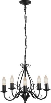 Buy heart of house tuscany 5 light ceiling fitting black at argos black chandelier aloadofball