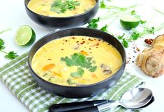 It's Soup Season! The 50 Best Winter Soup Recipes , Authentic Thai Vegetable Soup from It& Soup Season! Here's Our 50 Best Recipes. Thai Vegetable Soup, Vegetable Soup Recipes, Thai Soup, Best Winter Soups, Asian Recipes, Healthy Recipes, Asian Soup, Most Popular Recipes, Favorite Recipes