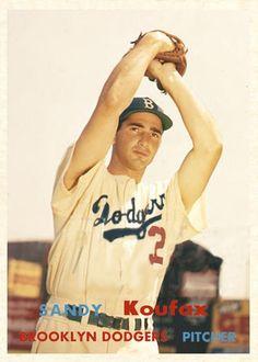 Willie Mays and MLB's 50 Greatest Living Ballplayers - Sandy Koufax Baseball Star, Dodgers Baseball, Baseball Photos, Sports Baseball, Baseball Players, Football Cards, Baseball Cards, Baseball Batter, Sandy Koufax