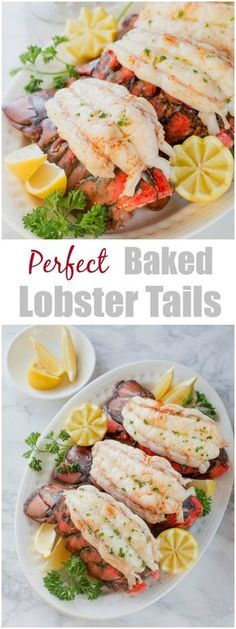 Baked lobster tails are the easiest way to cook lobster tail! Baking in white wine brings out succulent sweet flavors and yields insanely tender meat every time! #lobstertails #bakedlobstertails via @shineshka