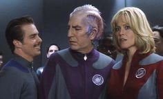 "Sam Rockwell, Alan Rickman & Sigourney Weaver, Galaxy Quest. ""Never give up, never surrender!"""