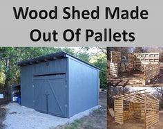 Wood Shed Made Out Of Pallets