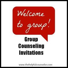 Group counseling invitations - Welcome students to your school counseling groups, club, or activity. Great way to communicate with students and parents.