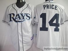 Rays #14 David Price Grey Cool Base Embroidered MLB Jersey