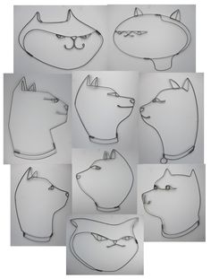 Cats  approx 2' x 2'  steel wire