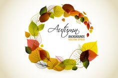 Collection of autumn backgrounds by orson on Creative Market