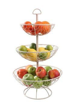 Pastandpresent Stylowe Wnętrza - Kuchnia > Metalowe Dodatki > TG/23050 Metalowy, kremowy stojak na owoce i ciasto