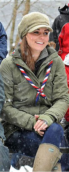 Kate Middleton: Scarf – Scouts  Coat – Barbour  Shoes – Le Chameau